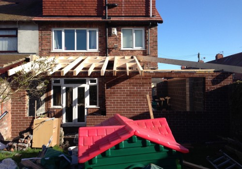 Wood Beams in Place Crosby Extension