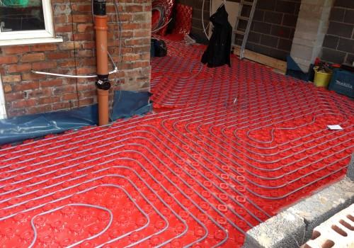Underfloor heating wrap around extension Crosby