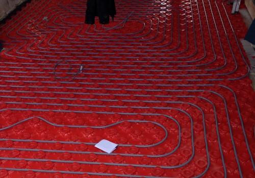 close up underfloor heating extension crosby