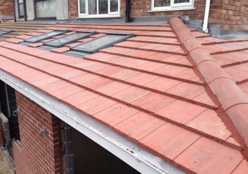Roof with skylights wrap around extension crosby