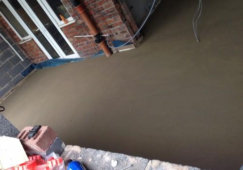 Concrete floor drying crosby wrap around