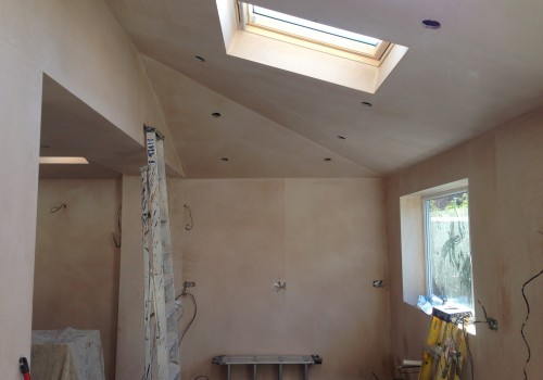 Plastering done crosby extension