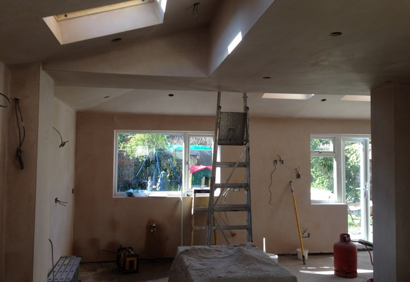 New windows and plastering crosby extension