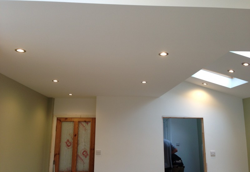 Plastering Painted over Crosby Extension