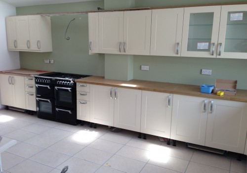 Kitchen cabinets installed crosby extension