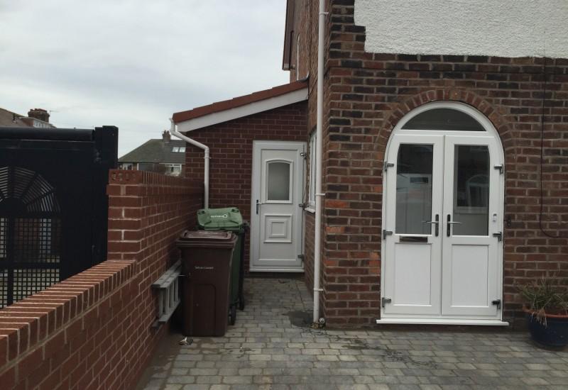 Front view of side door wrap