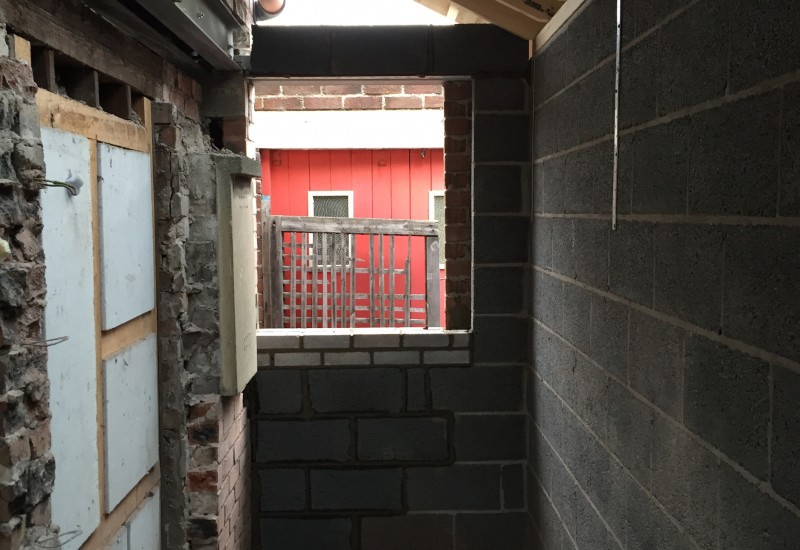 Window space for internal alteration crosby
