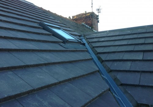 New roof corners and skylight Aintree