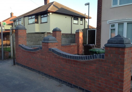 Completed the garden wall Liverpool