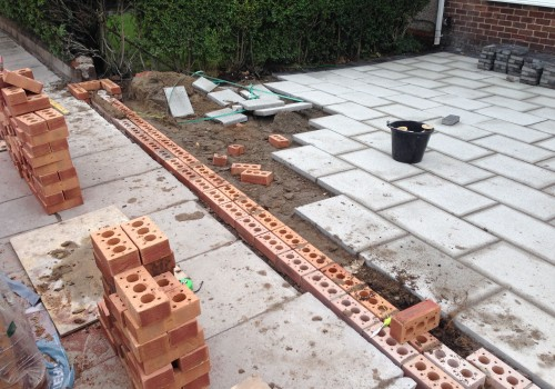 Groundwork for outside wall Aintree