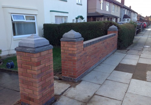 Completed wall Clubmoor