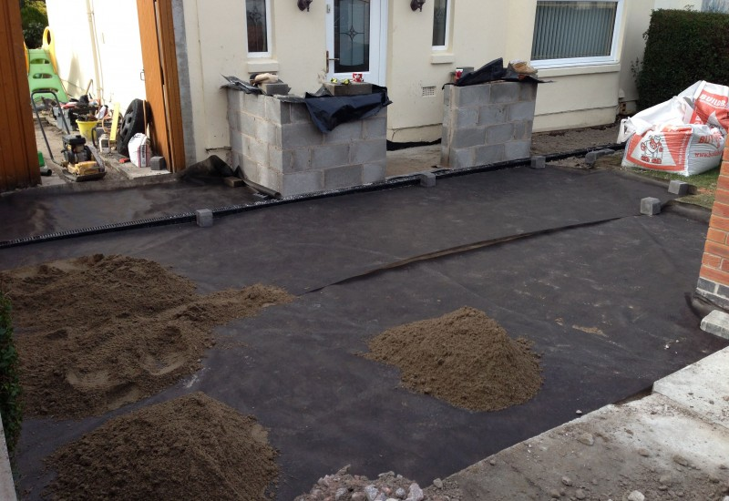 Laying the groundwork for Clubmoor porch