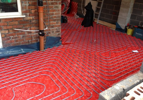 Underfloor heating wrap around extension Crosby