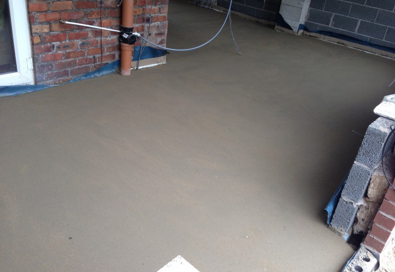 Smooth concrete crosby extension