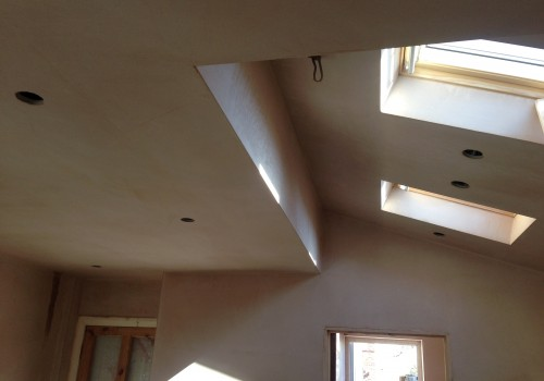 Plastered roof crosby extension
