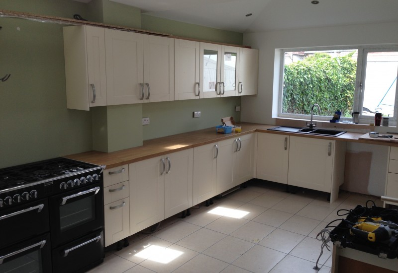 Kitchen features put in Crosby extension