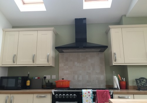 Cooker installed crosby extension