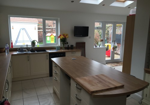 Kitchen extension project complete