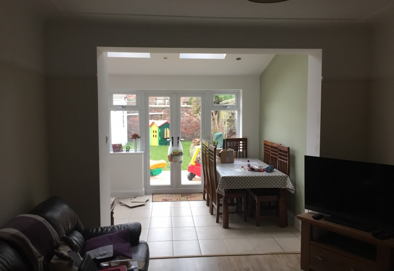 View from living room into new extension Crosby
