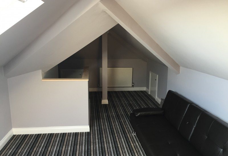 Completed Loft Conversion with Furnishing