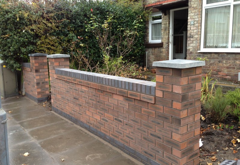 Garden Wall Aintree Finished Roadside
