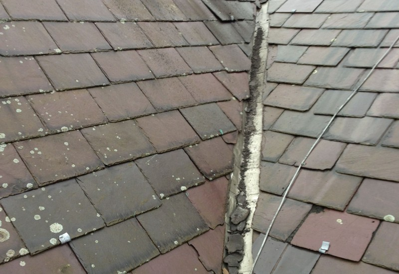 Roof drainage system in bad state, Aintree