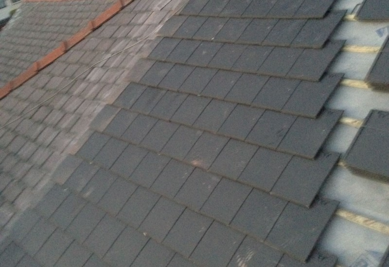 Tiling the new Aintree Roof