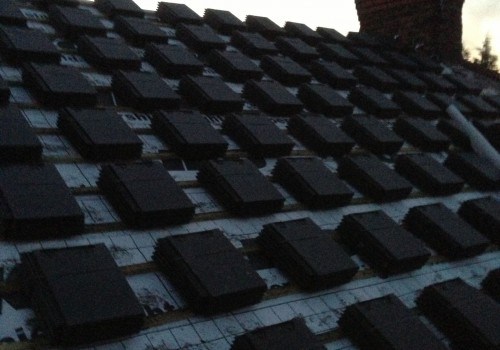New roof with tiles ready to be tiled Aintree