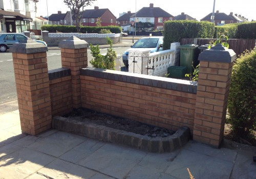 Garden Wall corner and soil area Bootle