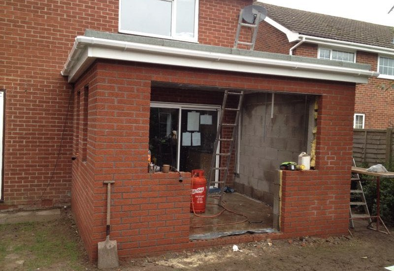 Creating space for the double doors Orangery Congleton