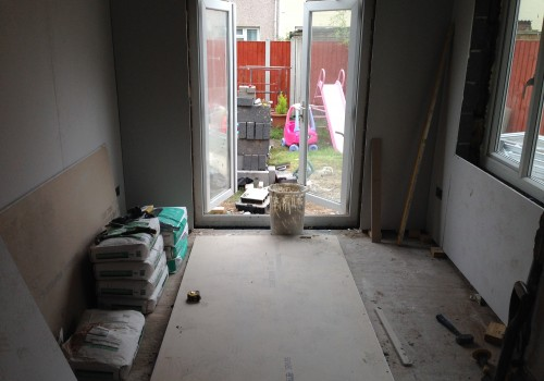 Midway through single story rear extension