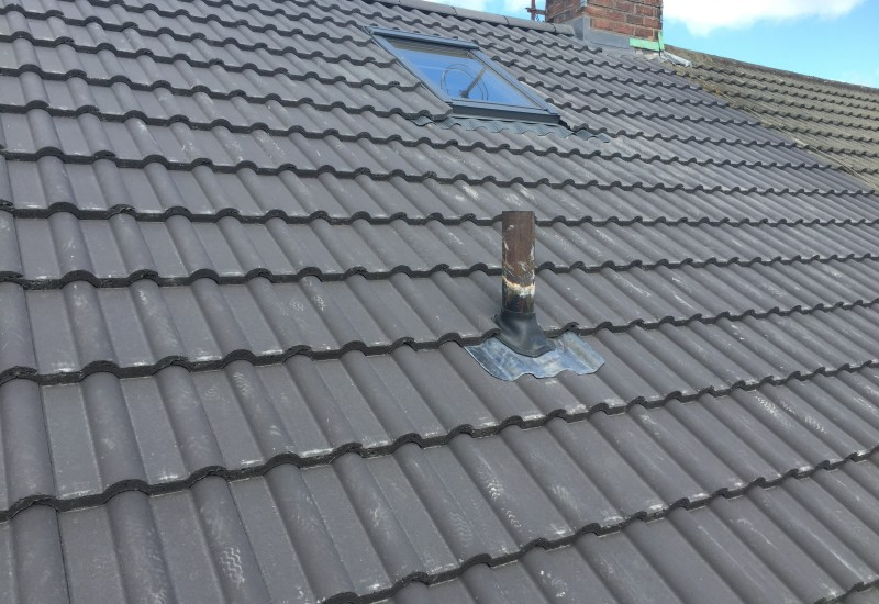 Exhaust pipe and skylight Roof Maghull