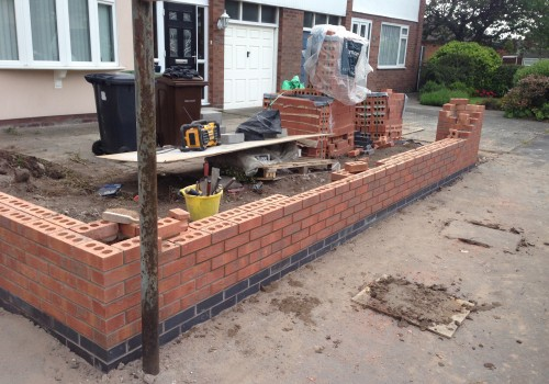 Garden Wall mid construction Old Roan