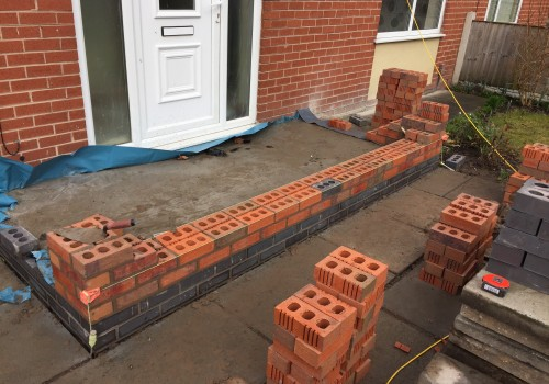 Quarter Way through brick porch Bootle