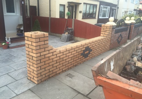 Good view new garden wall Netherton
