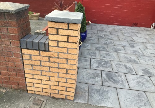 Beginning of garden wall pillar