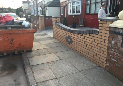 Completed garden wall Netherton