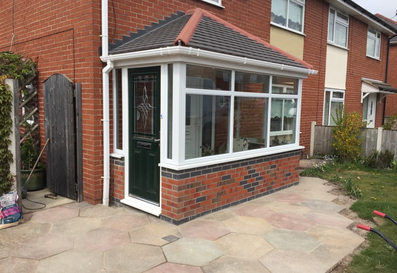 Completed porch in bootle