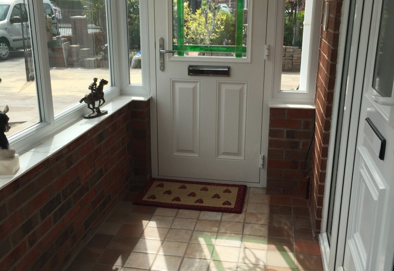 Door of a porch extensions bootle